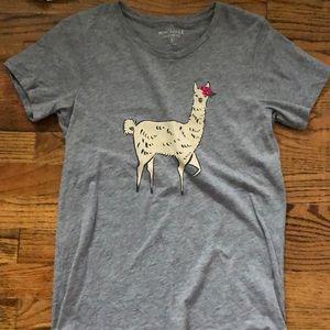 J crew llama t shirt
